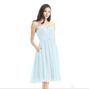 "Heidi Strapless Bridesmaid's Dress, Azazie: ""Mist"""